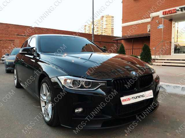Передняя губа M-Perfomance BMW 3 Series F30, передняя губа бмв