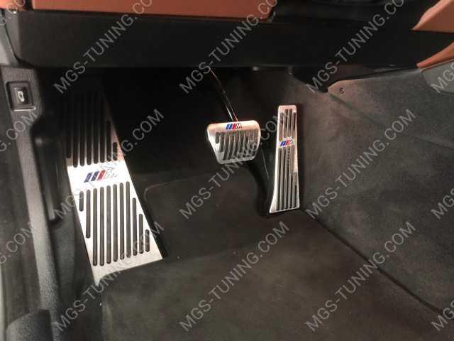 Накладки на педали M Style на BMW X5 E70