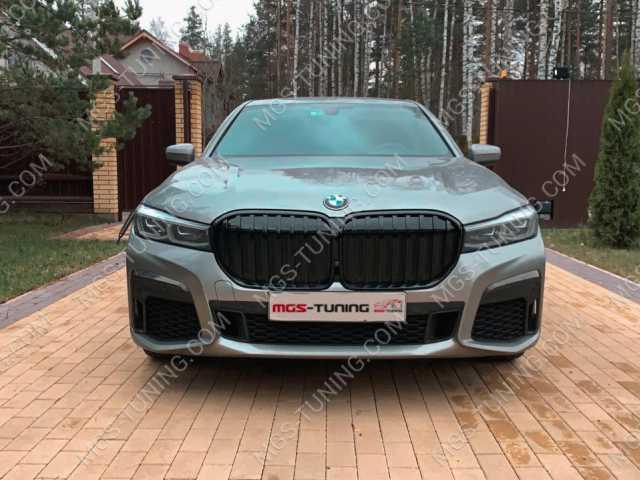 Решетка радиатора черная на BMW 7 Series G11 G12 M7 M-Perfomance