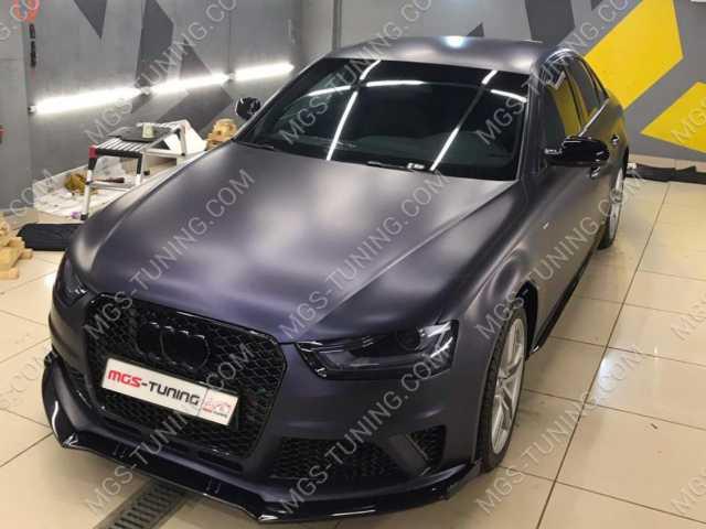 Бампер в стиле RS4 на Audi A4 B8 рестайлинг