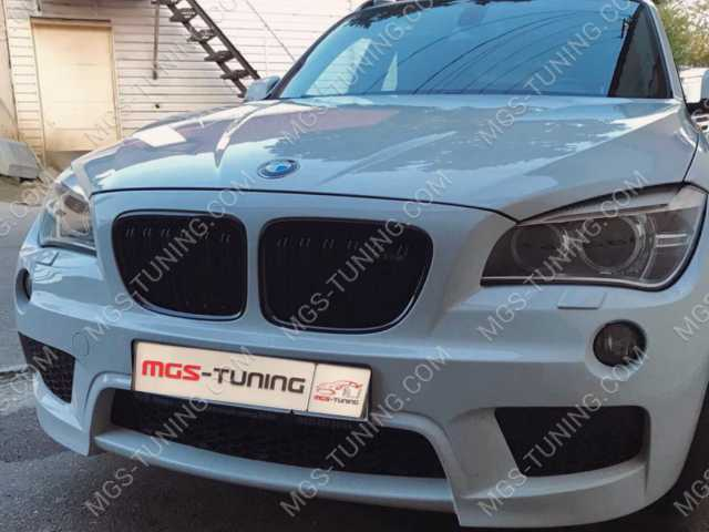 Ноздри BMW X1, решетка радиатора бмв х1, решетка радиатора бэха х1