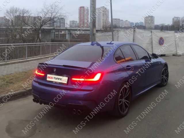 Диффузор с двойными насадками на BMW 3 Series G20