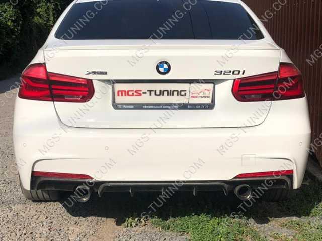 BMW 3 Series F30 диффузор с насадками м