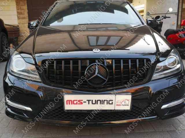 Решётка GT Mercedes C-Class W204 Black, Mercedes C-Class W204  , тюнинг мерседес, тюнинг мерс