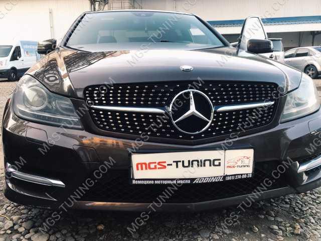 Mercedes C-Class W204, решетка мерседес, решетка на с класс