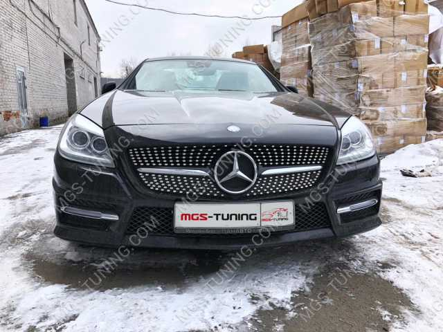Решётка Mercedes SLK-class r172 Diamond Black