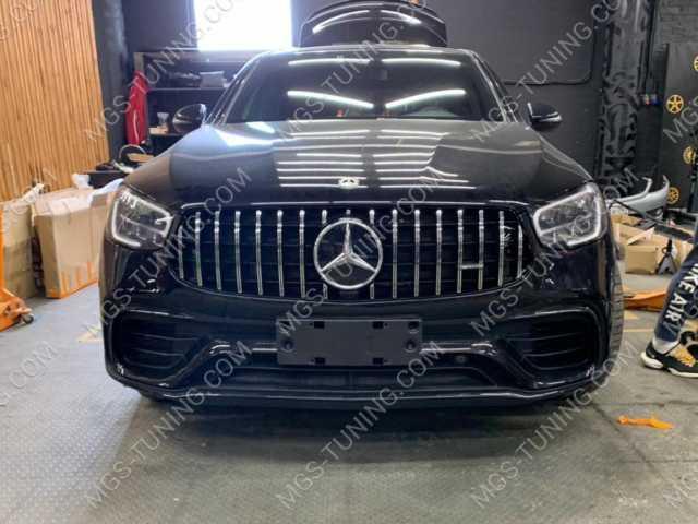 Обвес в стиле GLC 63 AMG на Mercedes GLC Class X253 рестайлинг