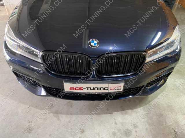 Черная решетка радиатора в стиле M7 на BMW 7 Series G11