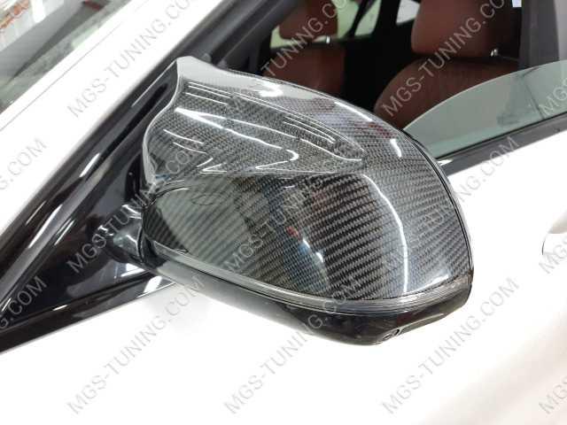 Крышки на зеркала в стиле X6M карбон на BMW X6 G06