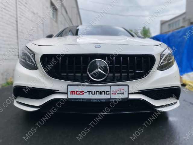 Решетка радиатора в стиле рестайлинга S63 AMG на Mercedes S63-Coupe C217