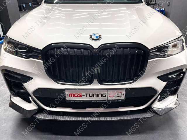 Губа переднего бампера карбон на BMW X7 G07