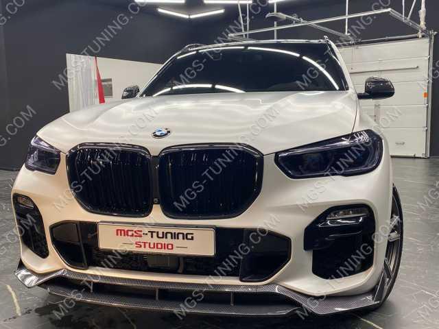 Губа переднего бампера сплиттер карбон на BMW X5 G05