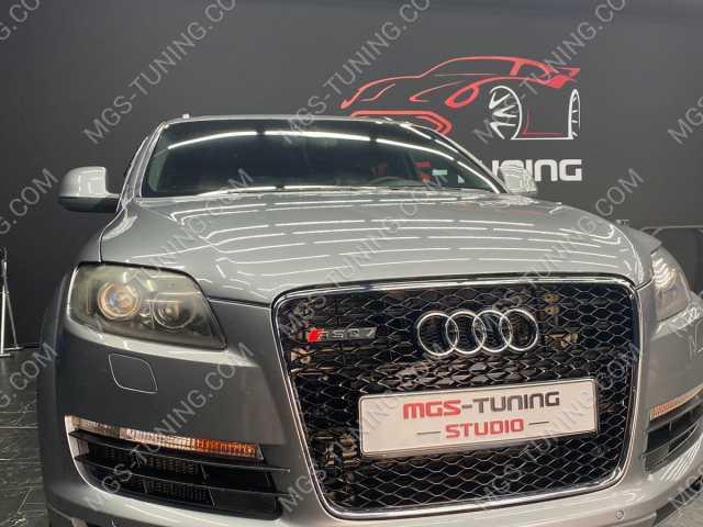 Решетка радиатора в стиле RSQ7 на Audi Q7 1 поколения 4л 4L