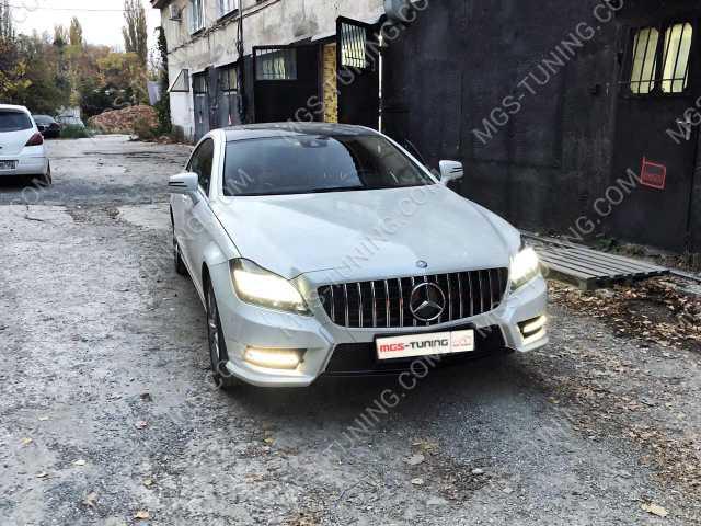 Решетка в стиле GT на Mercedes CLS W218, решетка на мерседес, решетка на мерс, решетка на mercedes